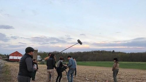 On the set of Buck Run in Lewisburg, PA.