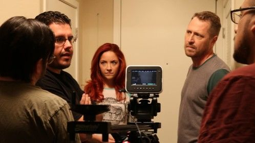 "Directing on the set of ""Stay"""