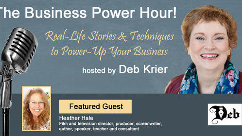LISTEN LIVE Thursday, December 7th from 11:00 AM - Noon (ET) when Deb Krier interviews me about How to Work the Film & TV Markets on The Business Power Hour - Storyselling for Business on Mile Hi Radio. Go to www.milehiradio.com and click on the Listen Now button. Hope to hear ya there!
