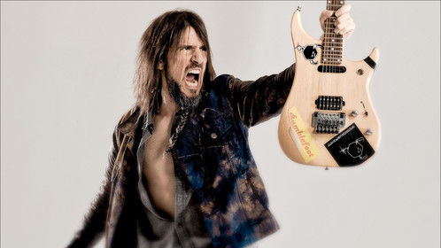 "Guitarist Ron ""Bumblefoot"" Thal. Shot while Ron was on a break from touring with Guns N Roses"