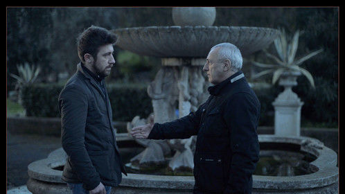 "Giovanni Sconamiglio and Claudio Olivieri in ""Ubuntu"". A film by William Bersani, Italy 2014. Cinematographer Philipp Soheili"