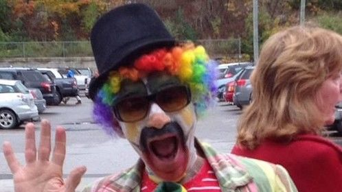 Mike organized small town promotions and performed as a clown at special events