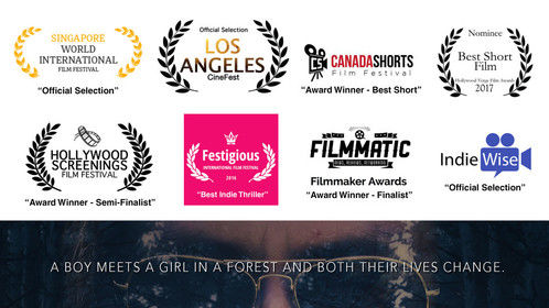 "Total wins of my first short film ""The Girl in the Forest"" after losing many! Still proud and making more films!"