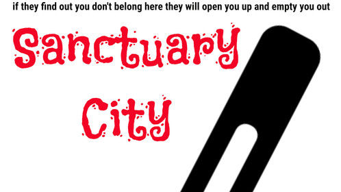 I designed this poster to promote my latest screenplay, Sanctuary City. Click on the picture to see the full-size.