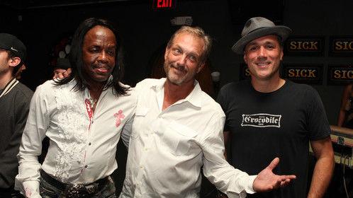 Verdine White (Earth, Wind & Fire), Brent Harvey (KBH Entertainment) and Dylan Berry (Smash Haus Music Group)