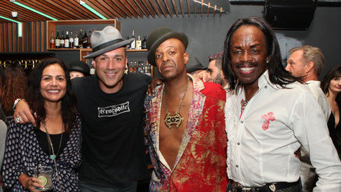 Maria & Dylan Berry, Angelo Moore (Fishbone) and Verdine White (Earth, Wind & Fire)