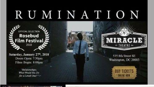 We won the Rosebud Award!  Best DMV Film 2018! Yours truly, Associate Producer.