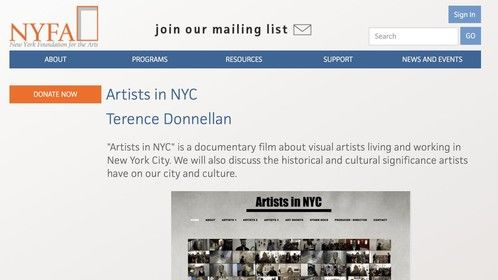 My documentary, Artists in NYC, has been accepted by NYFA for a Fiscal Sponsorship!   https://www.nyfa.org/ArtistDirectory/ShowProject/f0f8eb40-a6ce-4a38-9bf1-e6f4404d9627  #1889058643706391937