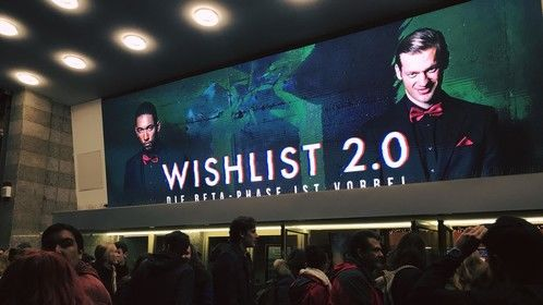 Wishlist 2.0 premiere Cineplex Filmpalast Cologne