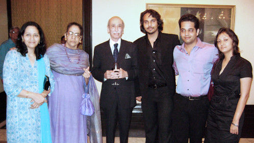 """At the Premiere of """"The Inheritance of Light"""" with Jehangir Sabavala."""