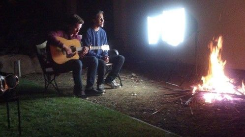 """Music Video shoot! My son went 3 rounds """"American Idol"""""""