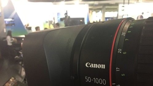 The Canon C700 and Canon 50-1000 combo displayed at SET Expo 2017.   SET Expo is the largest content production and media technology trade show in Latin America.