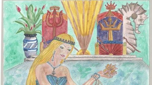 """Novel 3: Ocean Depths A Life - Queen Amphitrite's eyes lit up, """"Nahami and his kind are very astute…"""
