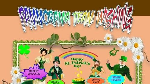 Happy St Patrick's Day!! May the road rise up to meet you.  May the wind be always at your back.   May the sun shine warm upon your face;   the rains fall soft upon your fields   May God hold you in the palm of His hand. Pam Malik