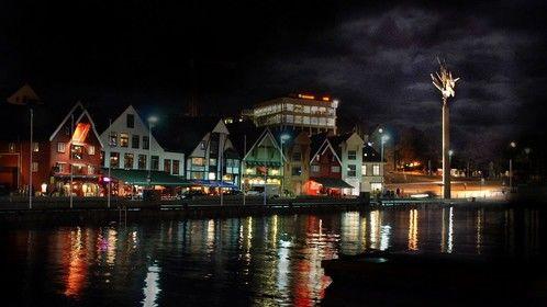 My hometown of Stavanger by night