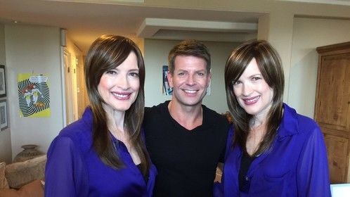 The stars: Gordon Fraser and the Psychic Twins!