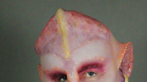 Full head silicone piece. Alien in New York; inspiration derived from concept art for the movie Valerian.