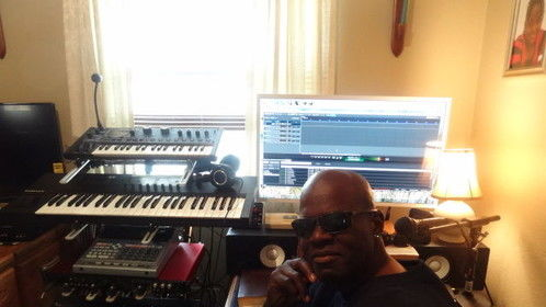 Me in the LAB (Where my Lyrics, Poetry, And Screenplays are written)
