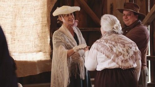 Still from the short film Black Donnellys (portraying Mrs. Thomson)