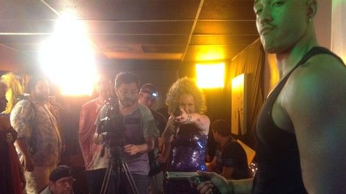 On the set of Drag Hell Zombies
