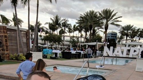 Chip Rossetti and I at NATPE 2018 in Miami brokering deals.