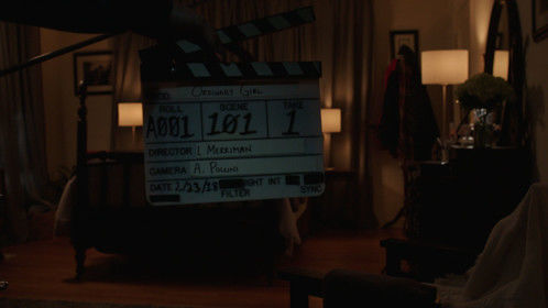 My first slate from our first take/first scene in Ordinary Girl.