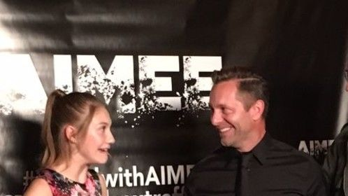 Actress Jamie Timmons, who played Aimee in the short film titled, AIMEE, with director Lee Whittaker.