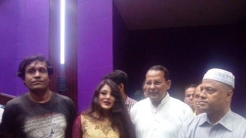 40th Birthday program of Bangladesh Film Archive at Bangladesh Film Archive.....me with Honorable information minister hasanul huq Einu, MP.......Abdul Marek, Secretary of information ministry