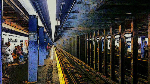 #1968775660667152405   Waiting for the NYC Subway train