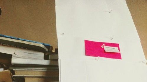 One card up on the character board...I'm really excited about this script.
