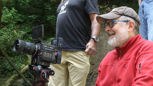 On the set of Chased near Mashel Falls near Mount Rainier