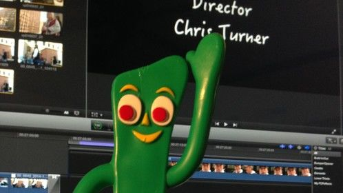 Gumby at the controls!