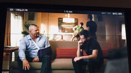 Directing Chuck Liddell in the Time Traveler national commercial I filmed with him.  He kept making me laugh, he is truly a pleasure to work with (and he is hilarious).