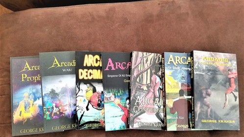 All seven of my YA fantasy books starring Arcadis, the most powerful sorcerer in all of the known realms.