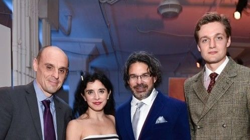 With Director Ken Biller , actors Alvaro Ramos and Lucas Englander at the Genius Picasso Premiere afterparty -NY 2018