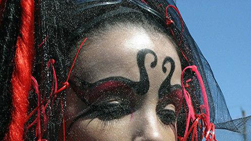 Freehand Goth Makeup by Roseangela MUA, Toronto Canada.