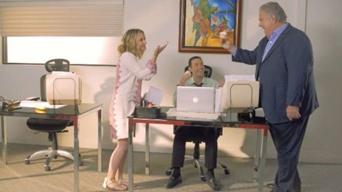"Movie still from ""Dance Baby Dance"" with me, Beverley Mitchell and Jim O'Heir"