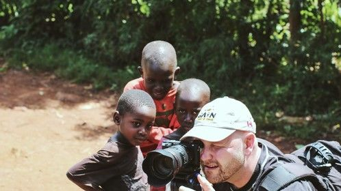 On location in Uganda.