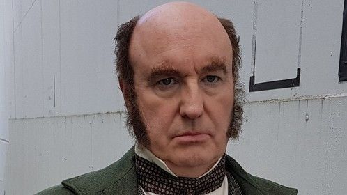 As Charles Darwin in the upcoming episode of Cosmos< Possible Worlds.