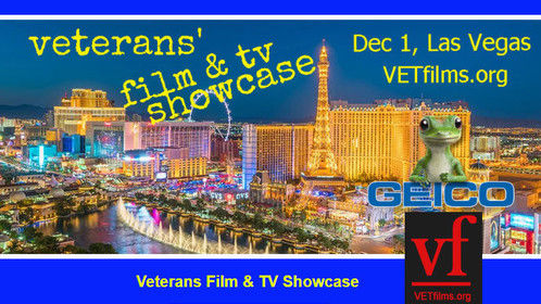 Meet at the First VET's FILM and TV SHOWCASE at the beautiful RIO Hotel and Casino in Las Vegas on December 1, 2018!
