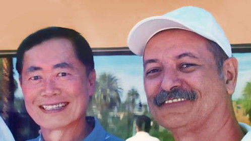 Christian and George Takei.