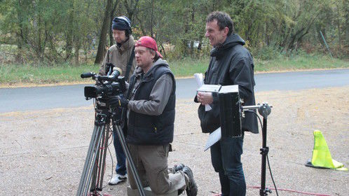 On location shooting 'One the Edge' with Cinematographer Werner Van Peppen (L)