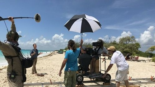 On location with National Geographic Explorer for Riviera Maya Films/Rene Blanco.