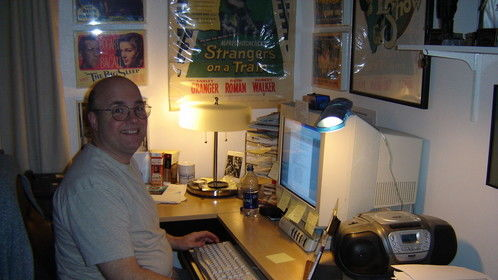 """an older picture when I wore """"Harry Potter"""" type glasses and the computers were clunky!"""