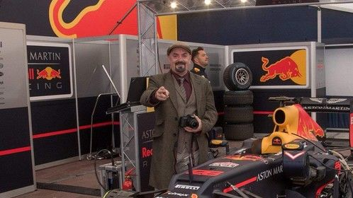 At the Red Bull Formula 1 event in Ireland