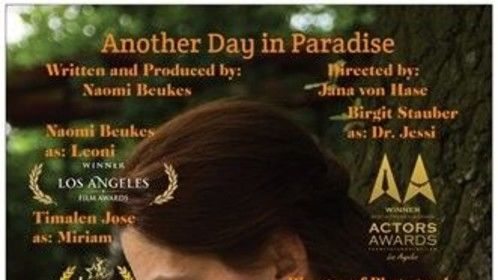 """Poster for the 3rd story in my webseries: The Centre. """"Another Day in Paradise"""""""
