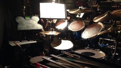 Drum kit with DrumKat in musical production.