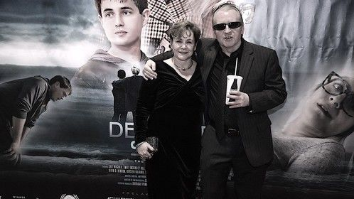 Actress Gail Wagner with Music Composer David C. Hëvvitt at Penn Cinema 25th Jan 2019 - Red Carpet Premiere of the movie Delaware Shore.