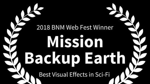 Mission Backup Earth wins Best Visual Effects at the Baltimore Webfest 2018