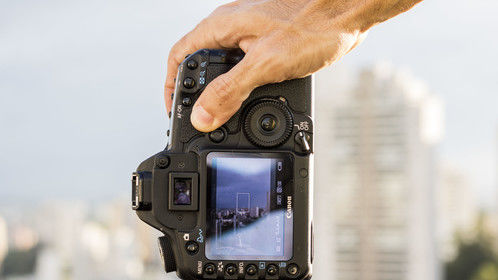 Shooting with the Canon 5D MKII in Sao Paulo, Brazil.